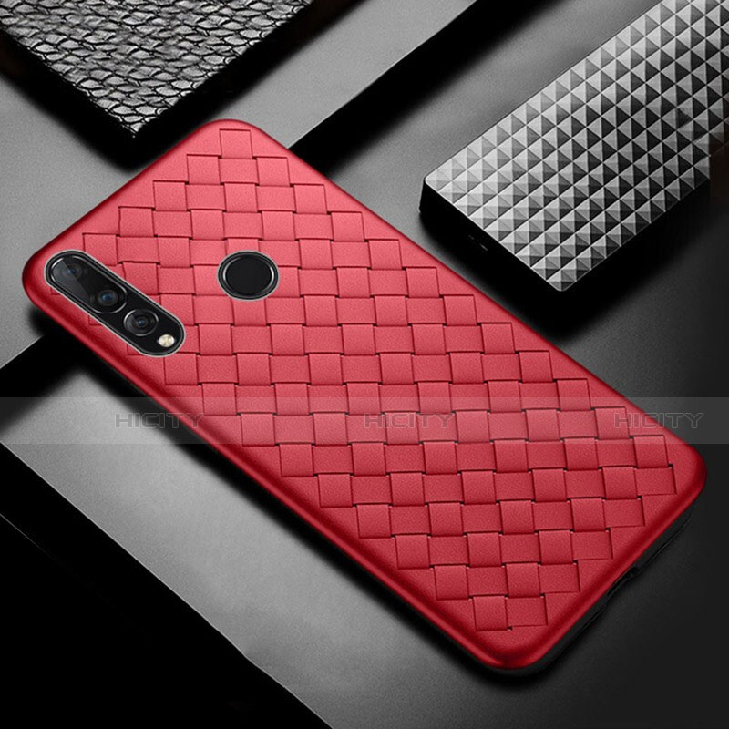 Coque Silicone Gel Motif Cuir Housse Etui A01 pour Huawei Honor 20 Lite Rouge Plus