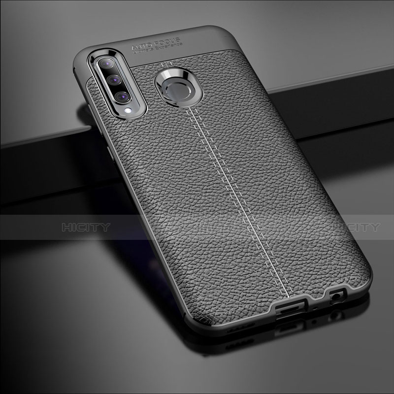 Coque Silicone Gel Motif Cuir Housse Etui S01 pour Huawei Honor 20 Lite Noir Plus