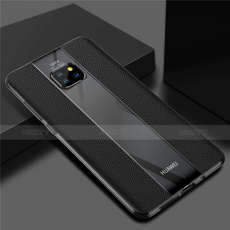 Coque Silicone Gel Motif Cuir Housse Etui S04 pour Huawei Mate 20 Pro Plus