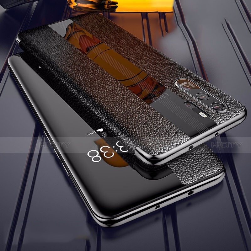 Coque Silicone Gel Motif Cuir Housse Etui Z01 pour Huawei P30 Pro Noir Plus