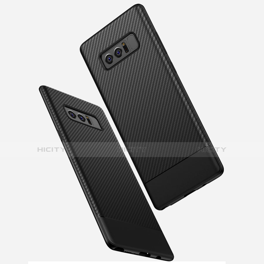 Coque Silicone Gel Serge pour Samsung Galaxy Note 8 Noir Plus