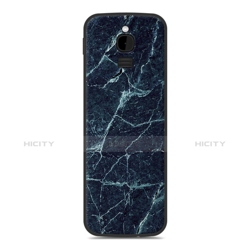Coque Silicone Housse Etui Gel Line pour Nokia 8110 (2018) Bleu Plus