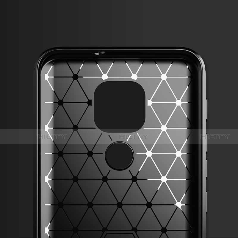 Coque Silicone Housse Etui Gel Line S01 pour Motorola Moto G9 Plus