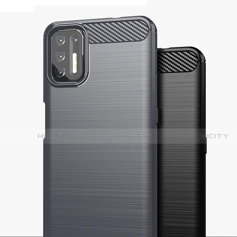 Coque Silicone Housse Etui Gel Line S01 pour Motorola Moto G9 Plus Plus