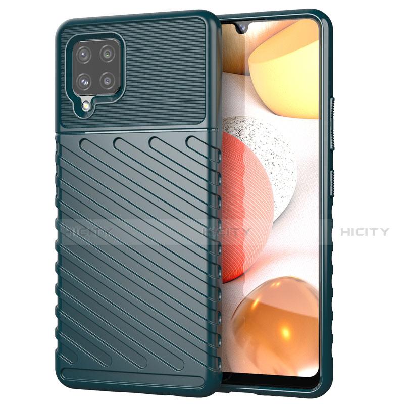 Coque Silicone Housse Etui Gel Serge S01 pour Samsung Galaxy A42 5G Vert Nuit Plus