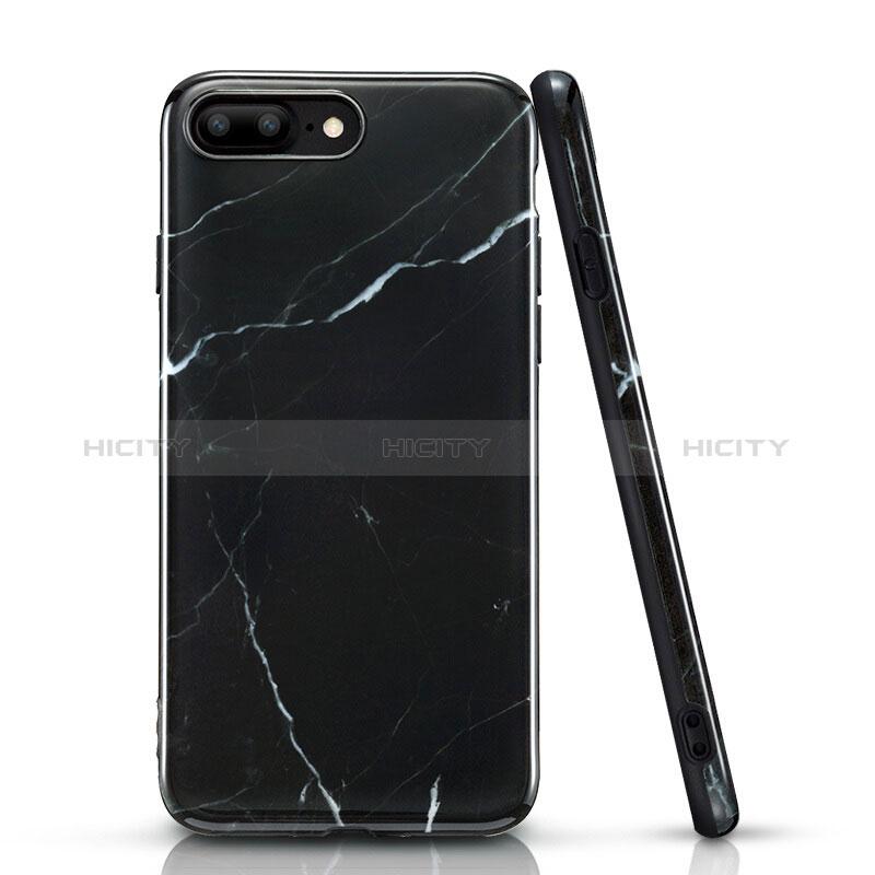 coque iphone 8 silicone noir marbré