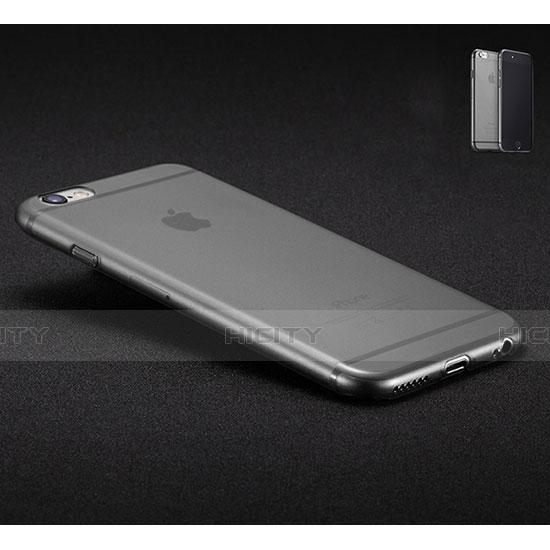 coque ultra fine mat silicone souple transparente pour apple iphone 6s gris fonce 6641 plus 3