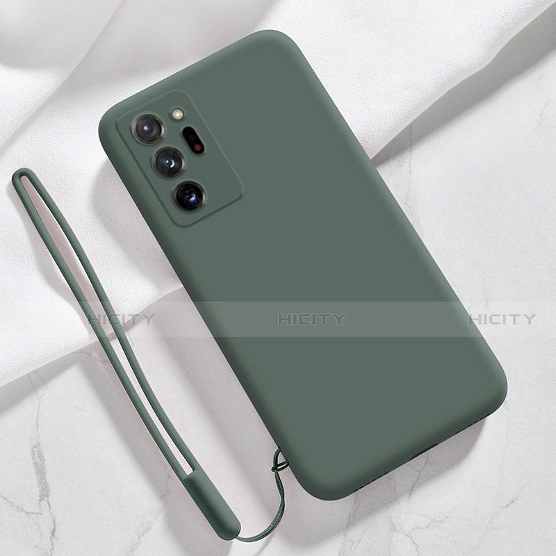 Coque Ultra Fine Silicone Souple 360 Degres Housse Etui N03 pour Samsung Galaxy Note 20 Ultra 5G Vert Nuit Plus