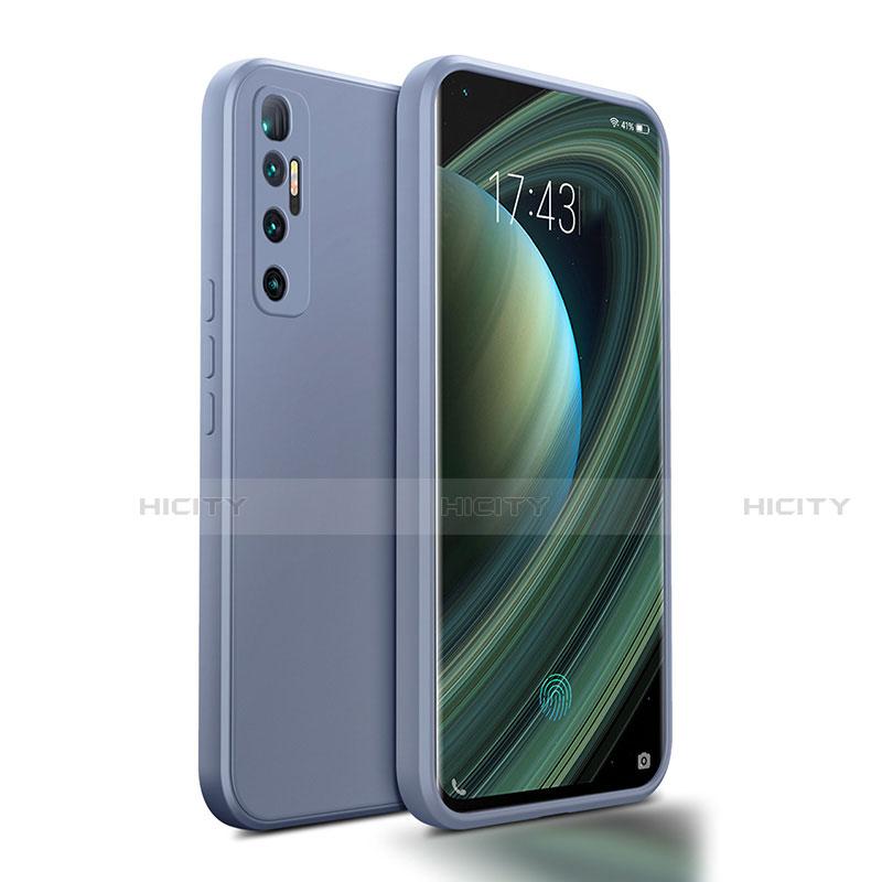 Coque Ultra Fine Silicone Souple 360 Degres Housse Etui S01 pour Xiaomi Mi 10 Ultra Gris Lavende Plus
