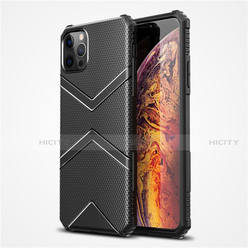 Coque Ultra Fine Silicone Souple 360 Degres Housse Etui S02 pour Apple iPhone 12 Pro Max Noir Plus