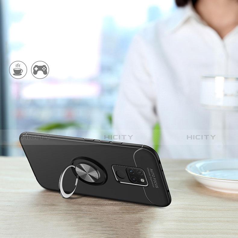 Coque Ultra Fine Silicone Souple avec Support Bague Anneau Aimante A02 pour Huawei Mate 20 Noir Plus