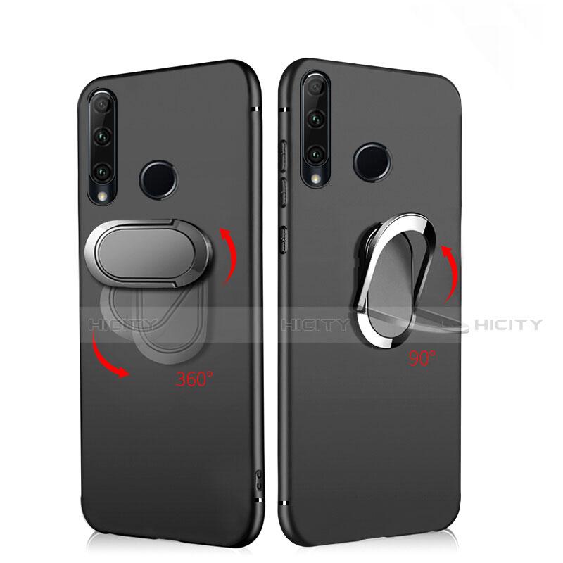 Coque Ultra Fine Silicone Souple avec Support Bague Anneau Aimante Magnetique pour Huawei Honor 20 Lite Noir Plus
