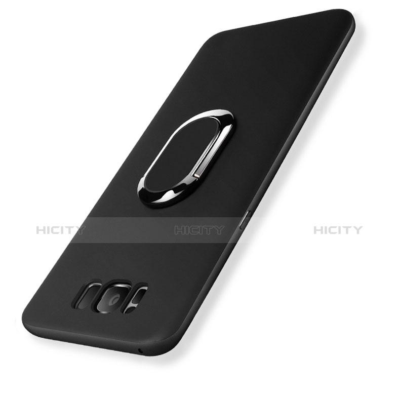 Coque Ultra Fine Silicone Souple avec Support Bague Anneau pour Samsung Galaxy S8 Plus Noir Plus