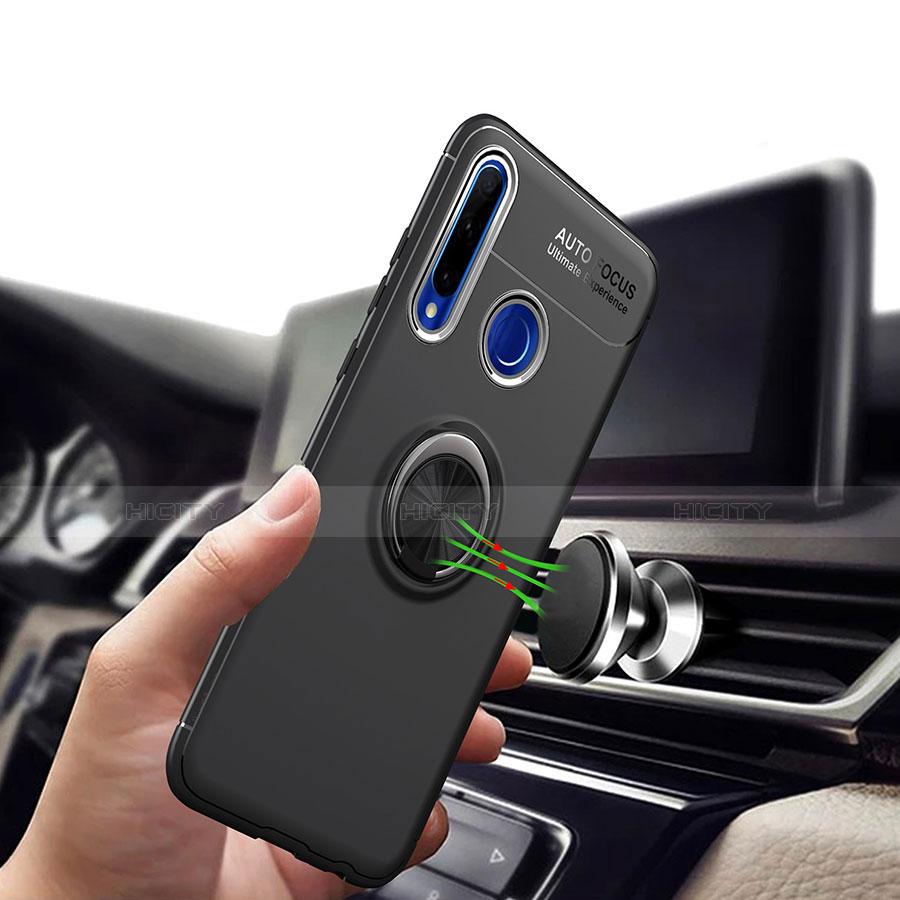 Coque Ultra Fine Silicone Souple Housse Etui avec Support Bague Anneau Aimante Magnetique A01 pour Huawei Honor 20 Lite Plus