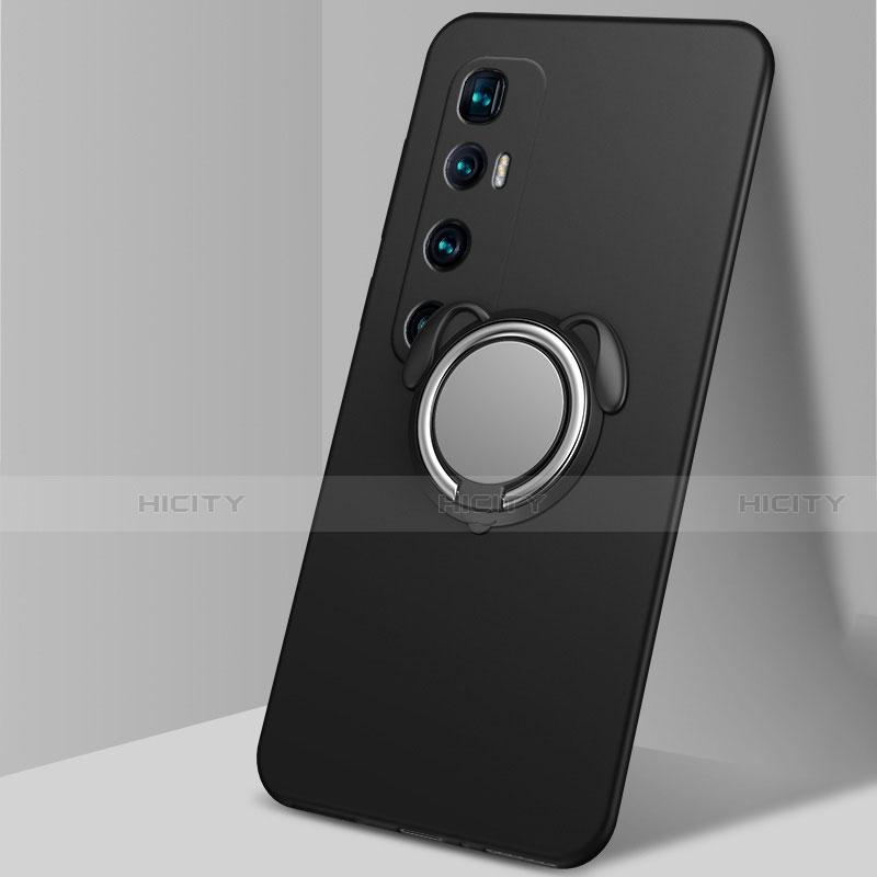 Coque Ultra Fine Silicone Souple Housse Etui avec Support Bague Anneau Aimante Magnetique A01 pour Xiaomi Mi 10 Ultra Noir Plus