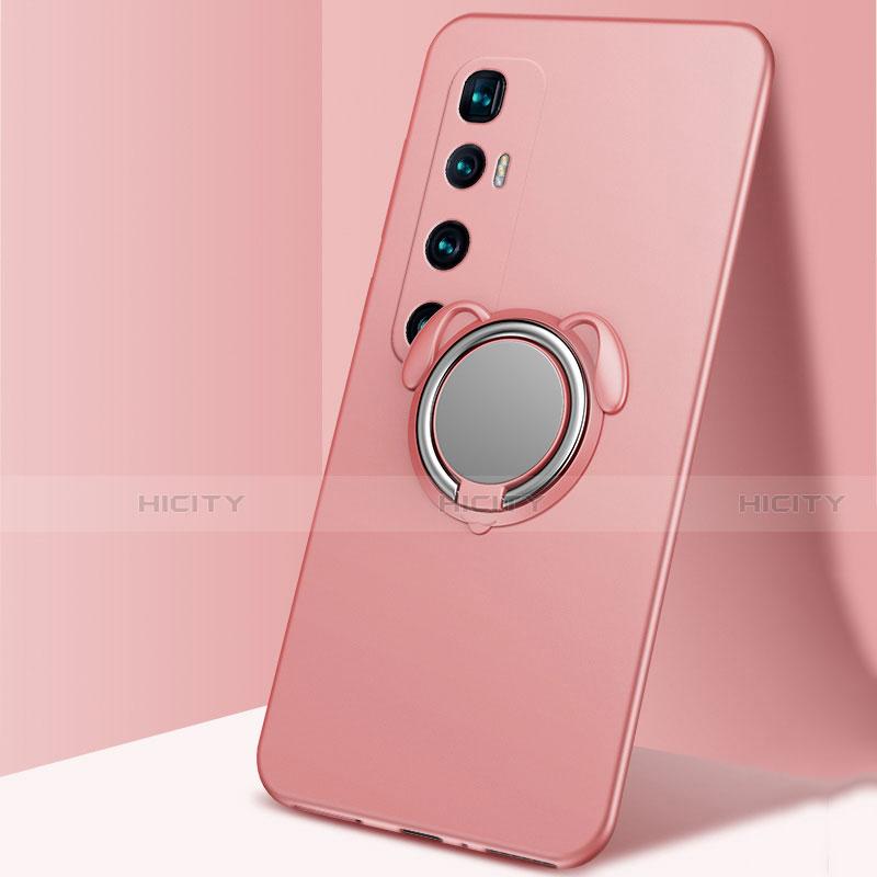 Coque Ultra Fine Silicone Souple Housse Etui avec Support Bague Anneau Aimante Magnetique A01 pour Xiaomi Mi 10 Ultra Or Rose Plus