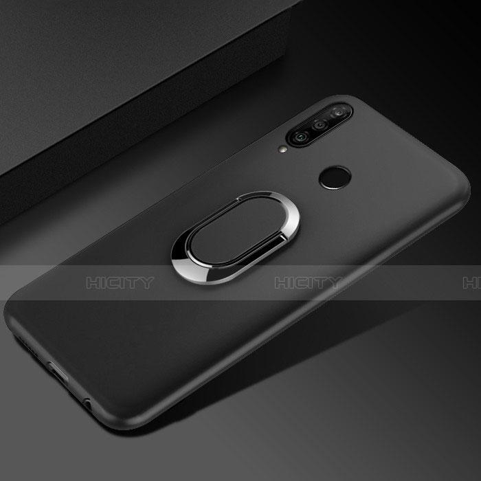 Coque Ultra Fine Silicone Souple Housse Etui avec Support Bague Anneau Aimante Magnetique pour Huawei Honor 20 Lite Noir Plus