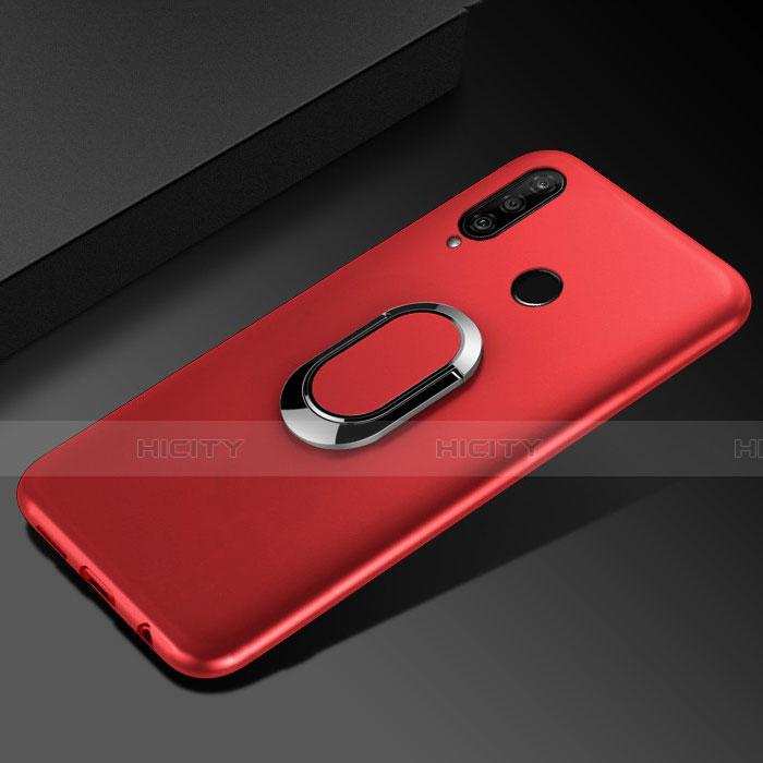 Coque Ultra Fine Silicone Souple Housse Etui avec Support Bague Anneau Aimante Magnetique pour Huawei Honor 20 Lite Rouge Plus