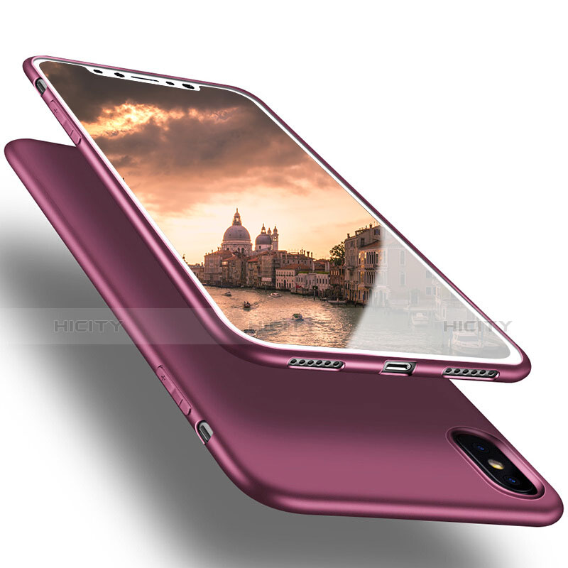 Coque Ultra Fine Silicone Souple S16 pour Apple iPhone Xs Max Violet Plus