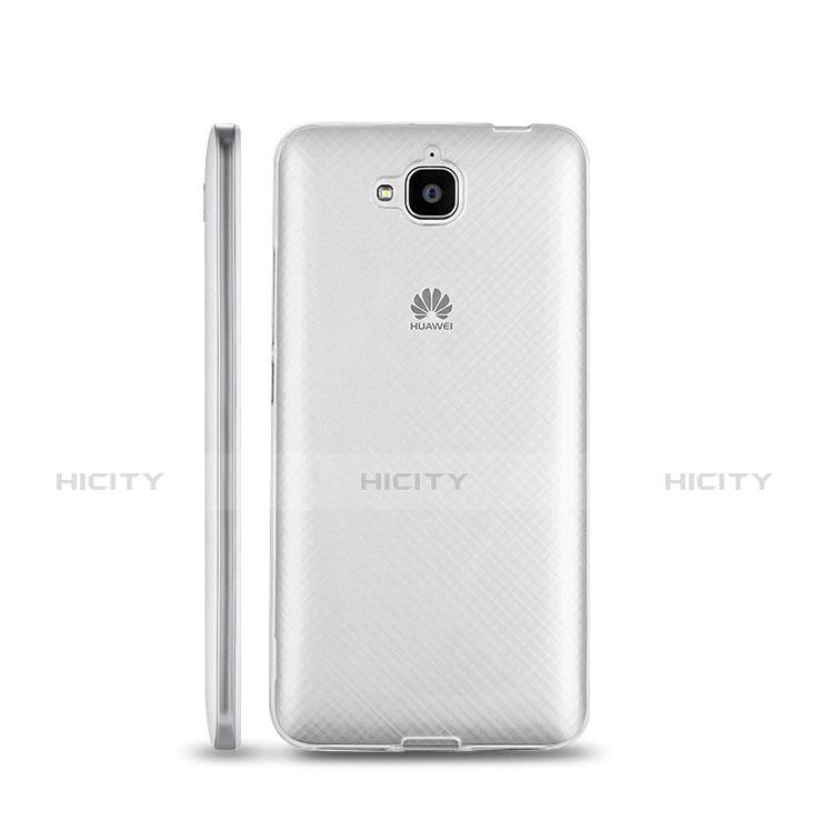 Coque Ultra Fine Silicone Souple Transparente pour Huawei Y6 Pro Blanc Plus