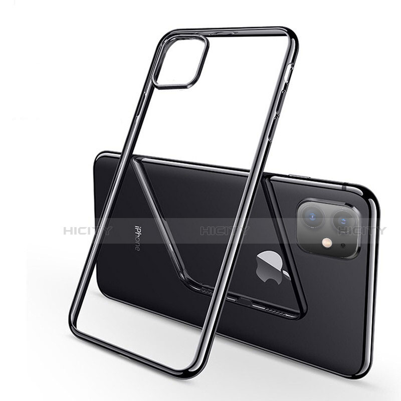 Coque Ultra Fine TPU Souple Housse Etui Transparente H03 pour Apple iPhone 11 Noir Plus