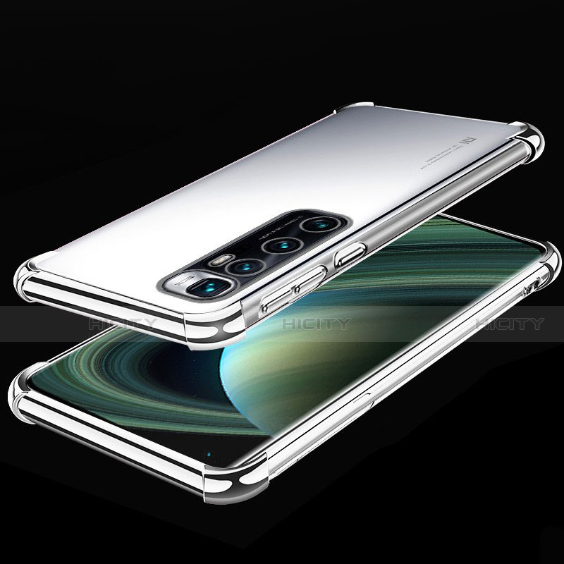 Coque Ultra Fine TPU Souple Housse Etui Transparente H04 pour Xiaomi Mi 10 Ultra Argent Plus