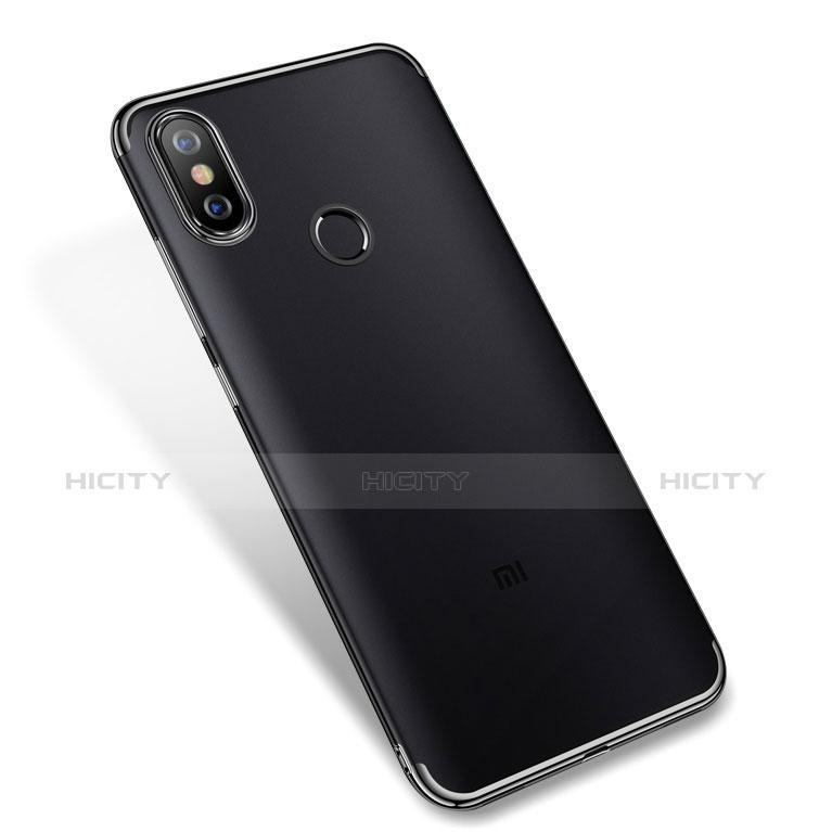 Coque Ultra Fine TPU Souple Housse Etui Transparente H04 pour Xiaomi Mi A2 Noir Plus