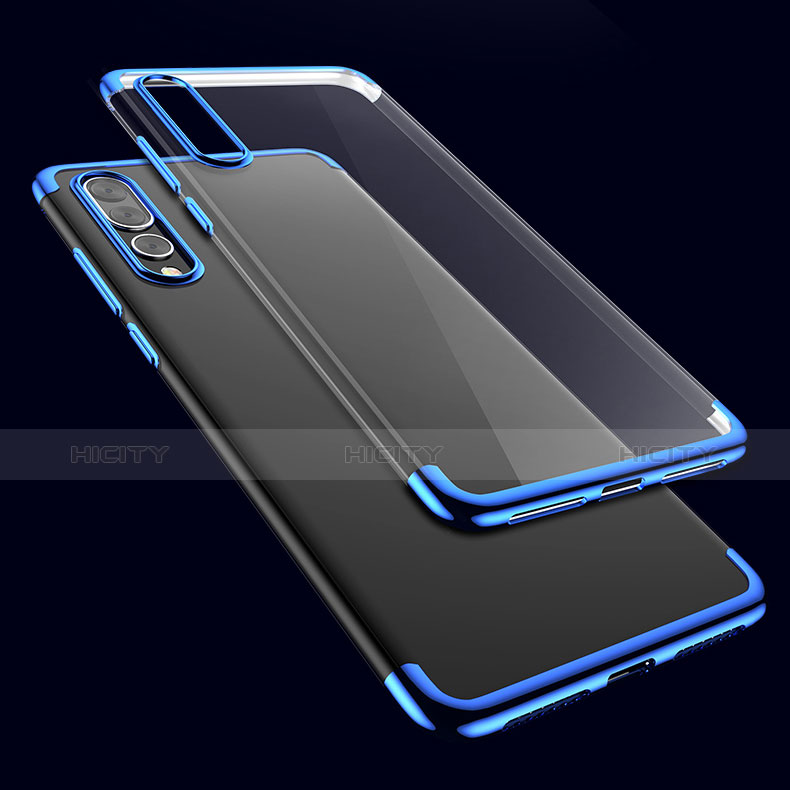 Coque Ultra Fine TPU Souple Transparente T11 pour Huawei P20 Pro Bleu Plus