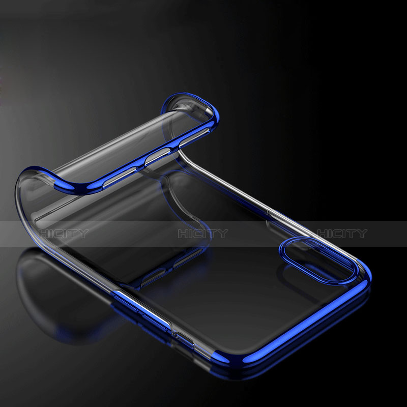 Coque Ultra Fine TPU Souple Transparente V07 pour Apple iPhone Xs Max Bleu Plus