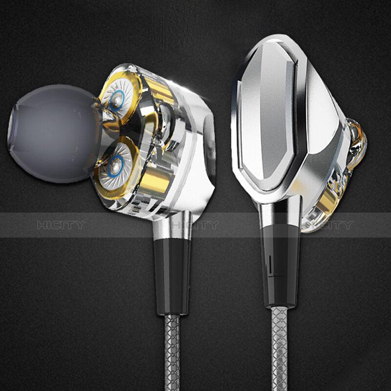 Ecouteur Casque Filaire Sport Stereo Intra-auriculaire Oreillette H04 Argent Plus