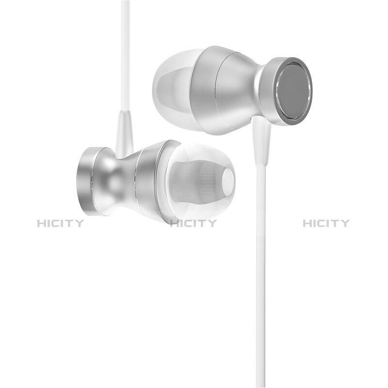 Ecouteur Casque Filaire Sport Stereo Intra-auriculaire Oreillette H34 Argent Plus