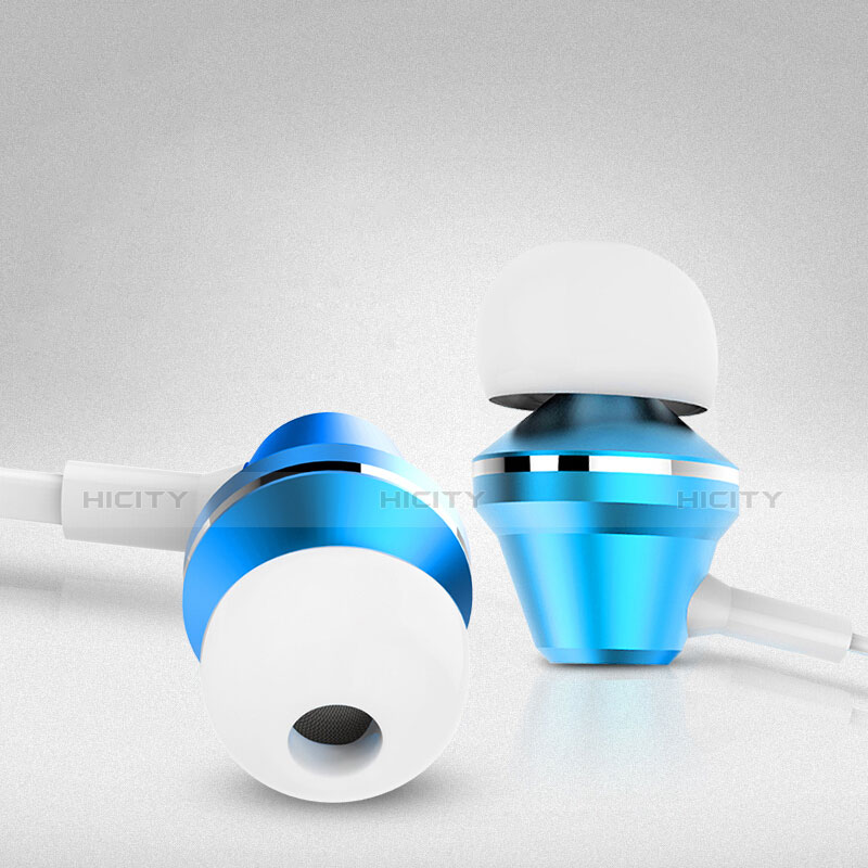 Ecouteur Casque Filaire Sport Stereo Intra-auriculaire Oreillette H37 Bleu Plus