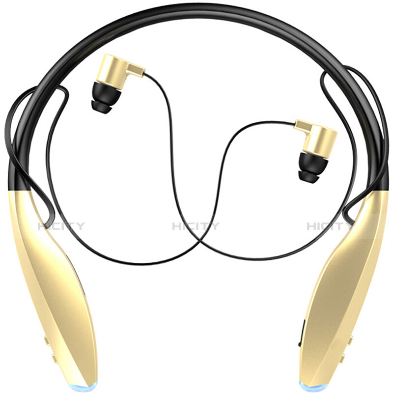 Ecouteur Sport Bluetooth Stereo Casque Intra-auriculaire Sans fil Oreillette H51 Or Plus