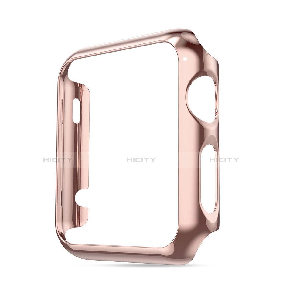 Etui Bumper Luxe Aluminum Metal pour Apple iWatch 38mm Rose Plus