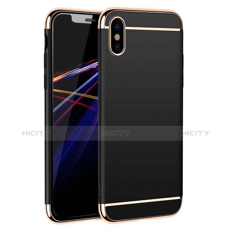 Etui Bumper Luxe Metal et Plastique M01 pour Apple iPhone Xs Max Noir Plus