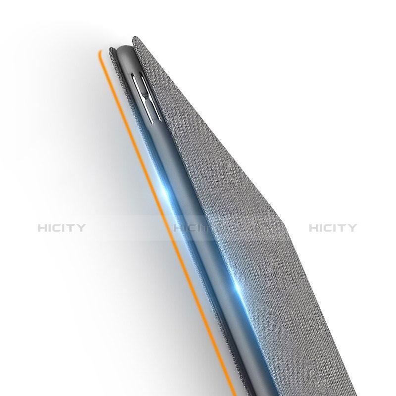 Etui Clapet Portefeuille Livre Tissu pour Apple iPad New Air (2019) 10.5 Gris Plus
