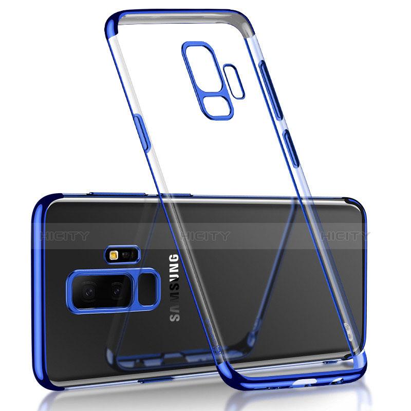 Etui Ultra Fine TPU Souple Transparente T18 pour Samsung Galaxy S9 Plus Bleu Plus