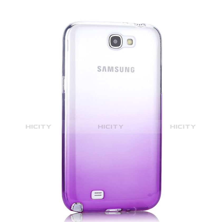 Etui Ultra Fine Transparente Souple Degrade pour Samsung Galaxy Note 2 N7100 N7105 Violet Plus