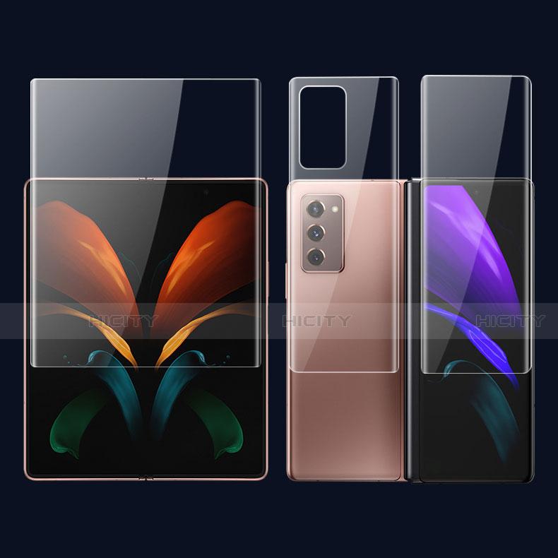Film Protecteur d'Ecran Avant et Arriere F01 pour Samsung Galaxy Z Fold2 5G Clair Plus