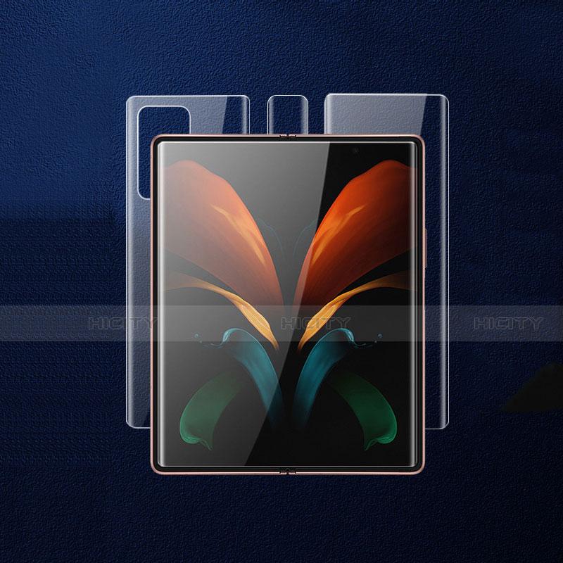 Film Protecteur d'Ecran Avant et Arriere pour Samsung Galaxy Z Fold2 5G Clair Plus