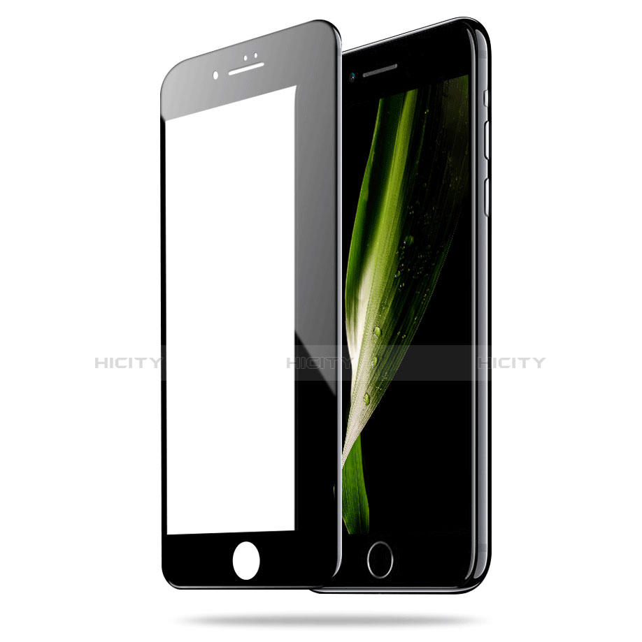 Film Verre Trempe Protecteur d'Ecran 3D pour Apple iPhone 7 Noir Plus