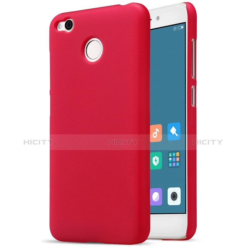 Housse Plastique Rigide Mailles Filet pour Xiaomi Redmi 4X Rouge Plus