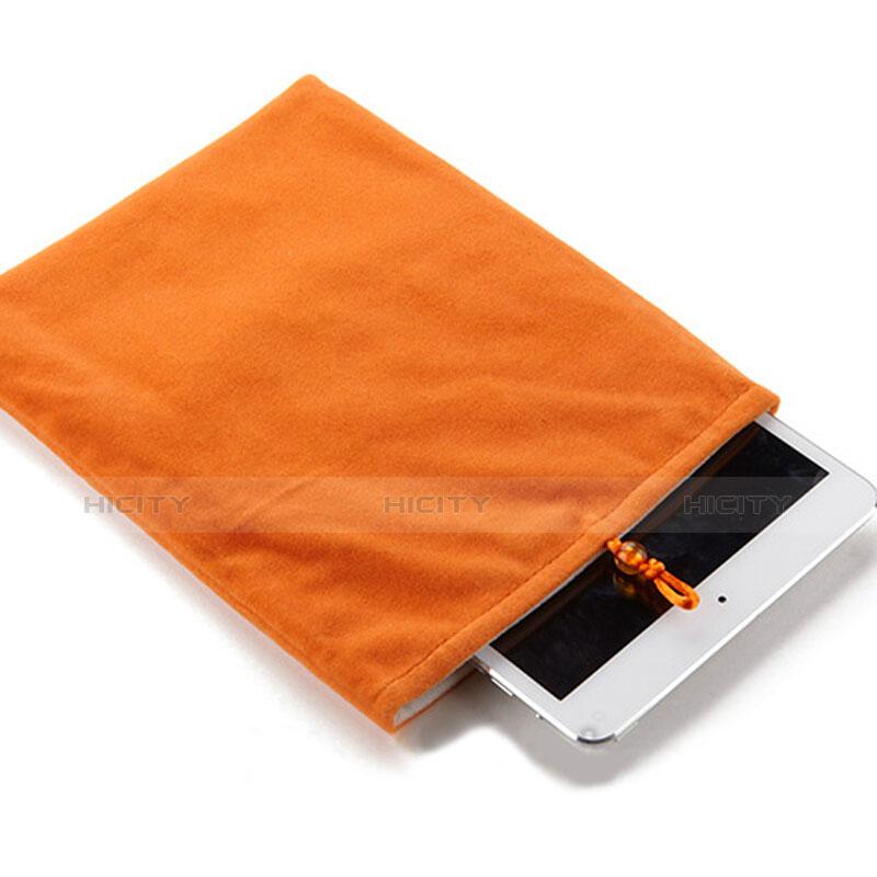 Housse Pochette Velour Tissu pour Apple iPad Pro 9.7 Orange Plus