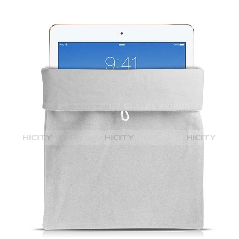 Housse Pochette Velour Tissu pour Huawei MatePad 10.4 Blanc Plus