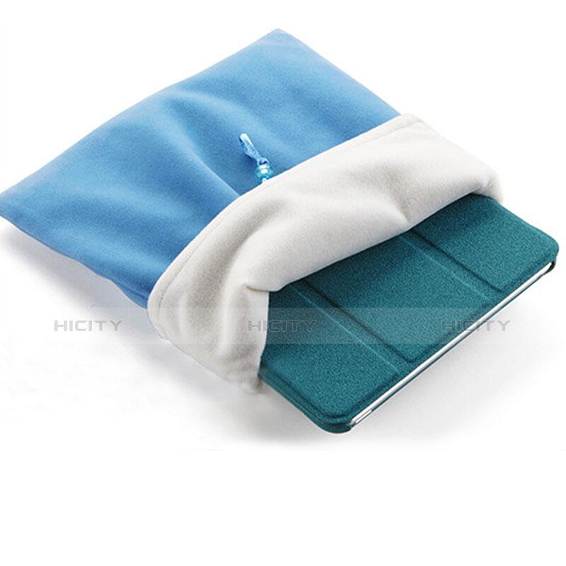 Housse Pochette Velour Tissu pour Huawei MatePad 10.4 Bleu Ciel Plus