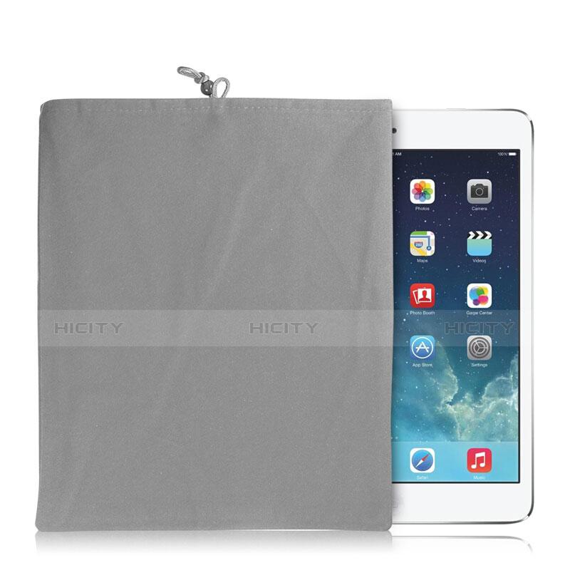 Housse Pochette Velour Tissu pour Huawei MatePad 10.4 Gris Plus