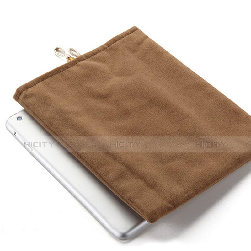 Housse Pochette Velour Tissu pour Huawei MatePad 10.4 Marron Plus