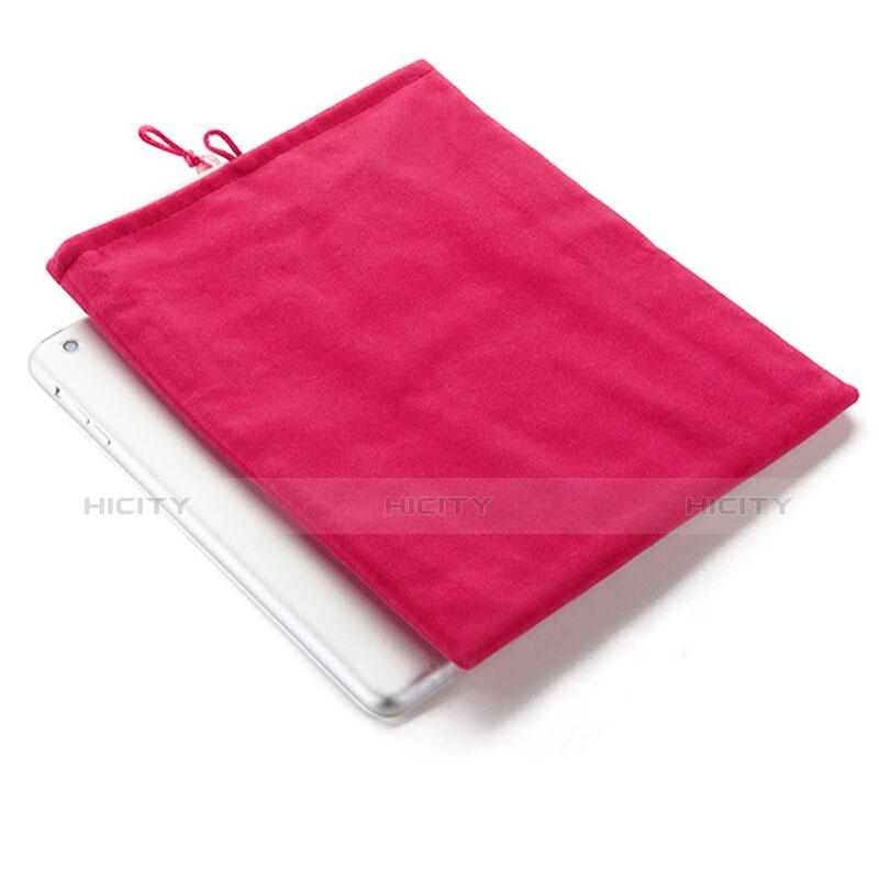 Housse Pochette Velour Tissu pour Huawei MatePad 10.4 Rose Rouge Plus