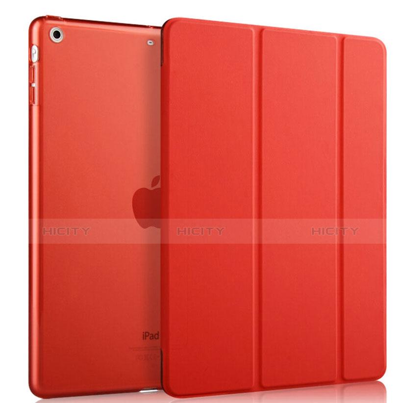 Housse Portefeuille Livre Cuir pour Apple iPad Mini Rouge Plus