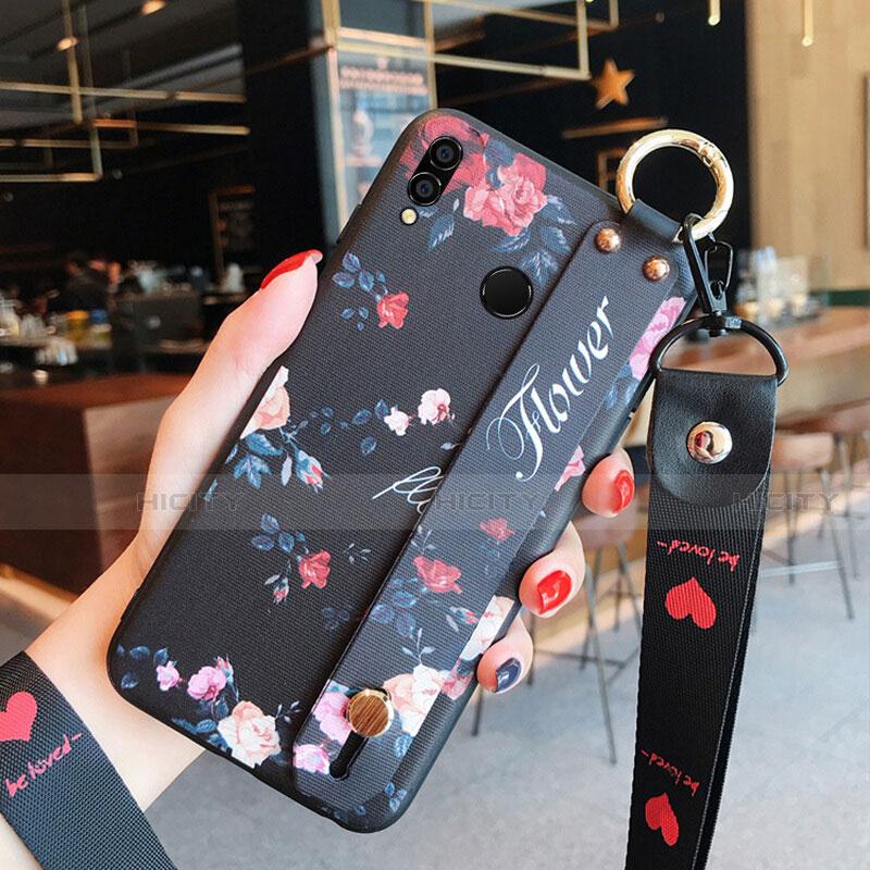 Housse Silicone Fleurs Souple Couleur Unie pour Huawei Honor 8X Mixte Plus